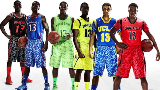 adidas march madness uniforms