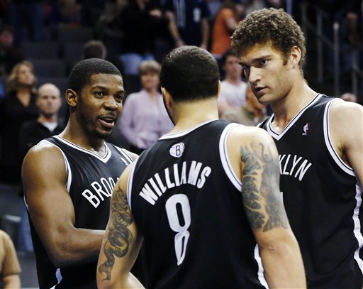 Joe Johnson, Deron Williams, Brook Lopez
